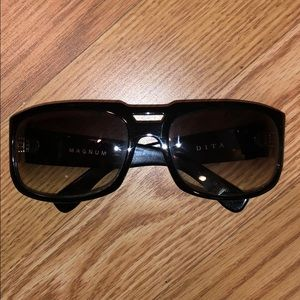 """Dita """"Magnum"""" black sunglasses with case"""